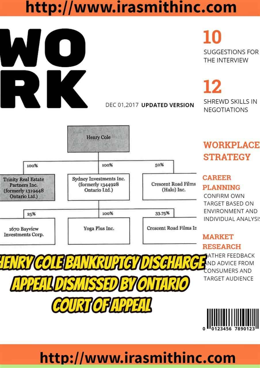Ontario Bankruptcy Discharge Certificate Ira Smithtrustee